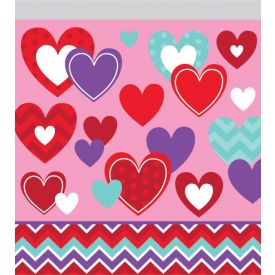 Decor Chevron & Hearts Zipper Sandwich Bags