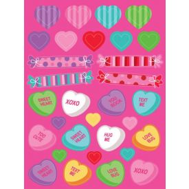 Decor Hearts and Candies Stickers