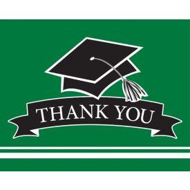 SCHOOL SPIRIT School Spirit Green Thank You Note