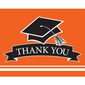 SCHOOL SPIRIT School Spirit Orange Thank You Note