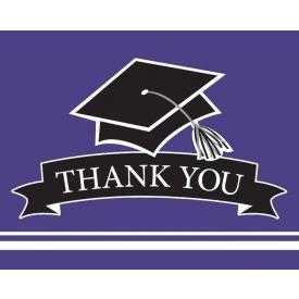 SCHOOL SPIRIT School Spirit Purple Thank You Note