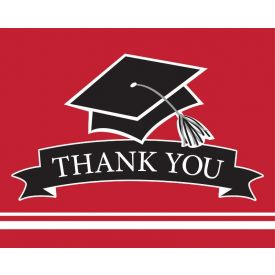 SCHOOL SPIRIT School Spirit Red Thank You Note