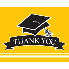 SCHOOL SPIRIT School Spirit Yellow Thank You Note