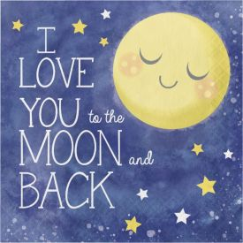 To the Moon and Back Luncheon Napkin, Moon and Back