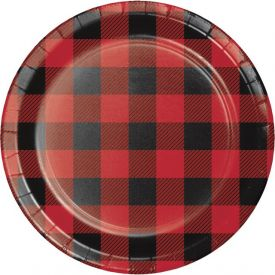 Buffalo Plaid Appetizer or Dessert Plates 7