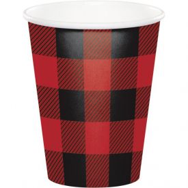 Buffalo Plaid Hot/Cold Cups 9oz. Available 12-10-18