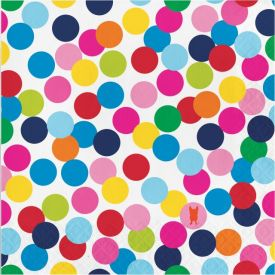 French Bull Birthday Dots Luncheon Napkin, 3 ply