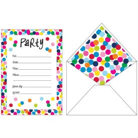 French Bull Birthday Dots Invitations