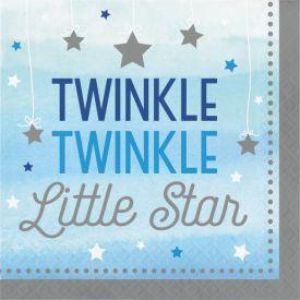 Twinkle Twinkle Little Star Blue Lunch Napkins