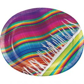 Serape Oval Paper Platters