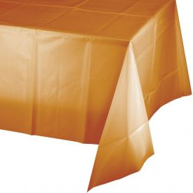 Pumpkin Spice Plastic Table Covers  54