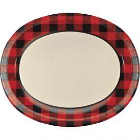Buffalo Plaid Oval Platters