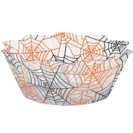 Decor Spiderwebs Fluted Bowl