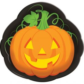 Halloween Pumpkin Face Tray 14