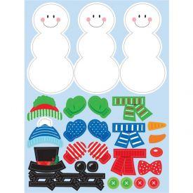 Decor Build A Snowman Stickers