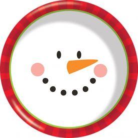 Decor Snowman Face 6