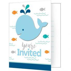 Lil' Spout Blue Invitation w/Att