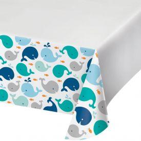 Lil' Spout Blue Plastic Tablecover Border, 54