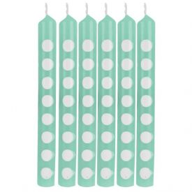 Decor Candles Dots Fresh Mint