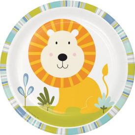 Happi Jungle Luncheon Plate, Lion
