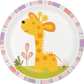 Happi Jungle Luncheon Plate, Giraffe