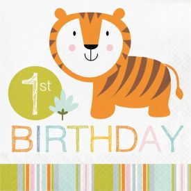 Happi Jungle Luncheon Napkin, 1st BD