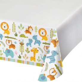 Happi Jungle Plastic Tablecover Border, 54