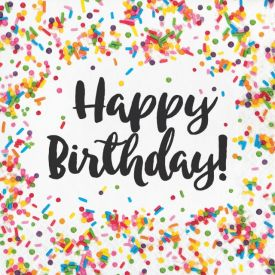 Sprinkles Luncheon Napkin, Happy Birthday