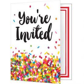 Sprinkles Invitation Foldover