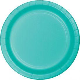 Teal Lagoon Luncheon Plates