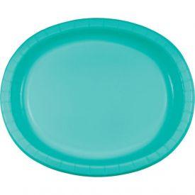 Teal Lagoon Oval Platter 10