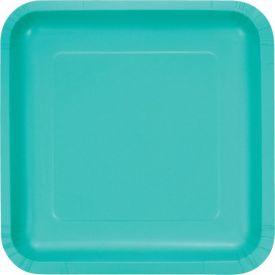 Teal Lagoon Dinner Plates Sq. DD
