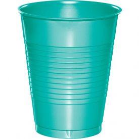 Teal Lagoon Premium Plastic Cups 16 oz.