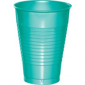 Teal Lagoon Premium Plastic Cups 12 oz.