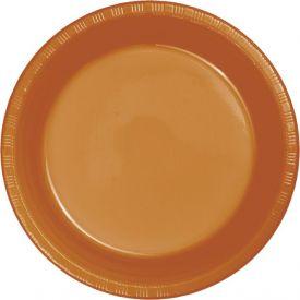 Pumpkin Spice Premium Plastic Banquet Plates 10 1/4