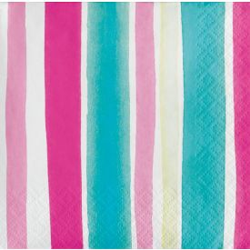 Tropical Stripes Beverage Napkin, Stripes