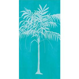 Tropical Stripes Guest Towel, Palm