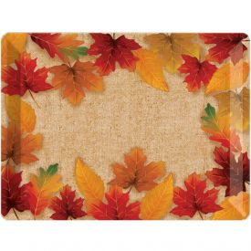 DÉCOR PLASTIC TRAY, 10 X 14, FALL LEAVES