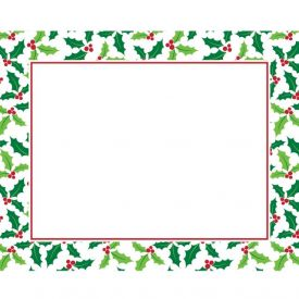CHRISTMAS HOLLY DÉCOR PLACEMATS