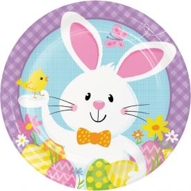 BUNNY BUSINESS DINNER PLATES 9