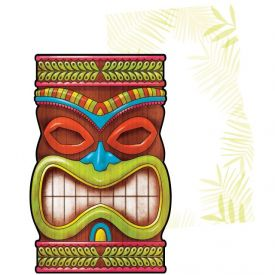 TIKI TIME INVITATION POSTCARD
