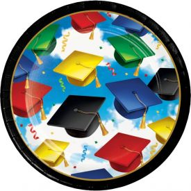 GRADUATION CELEBRATION APPETIZER OR DESSERT PLATES, BULK 7