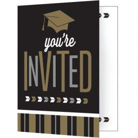 GLITZY GRAD INVITATION, FOLDOVER