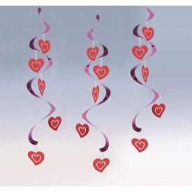 VALENTINE DÉCOR DIZZY DANGLERS HEARTS