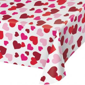 VALENTINE DÉCOR PLASTIC TABLE COVERS 54