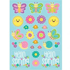 EASTER DÉCOR STICKERS, HELLO SPRING