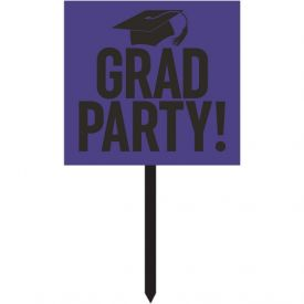 GRADUATION DÉCOR YARD SIGN, GRAD,  PURPLE