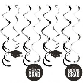 Graduation DÉcor Split Dizzy Danglers, Grad Black