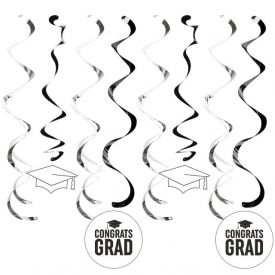 Graduation DÉcor Split Dizzy Danglers, Grad White