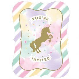 UNICORN SPARKLE INVITATION PSCD